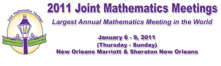 2011 JMM, Jan 6 - 9, 2011, New Orleans Marriott, Sheraton New Orleans, Largest Annual Mathematics Meeting in the World